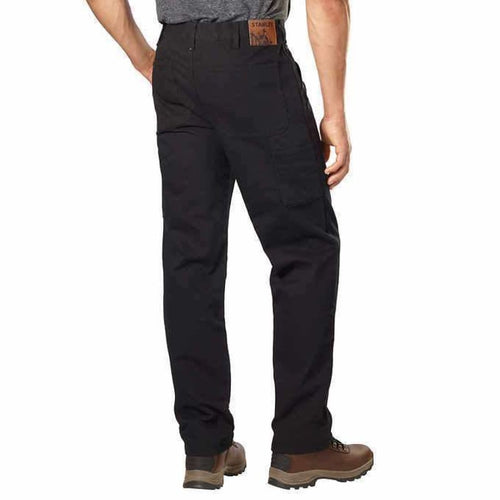 Stanley Mens Canvas Carpenter Utility Pant - 38x30 / Black - Pants
