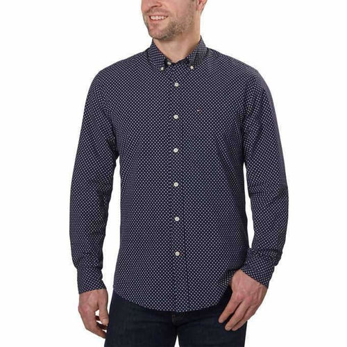 Tommy Hilfiger Mens Long Sleeve Woven Shirt Size Large Dress Shirts