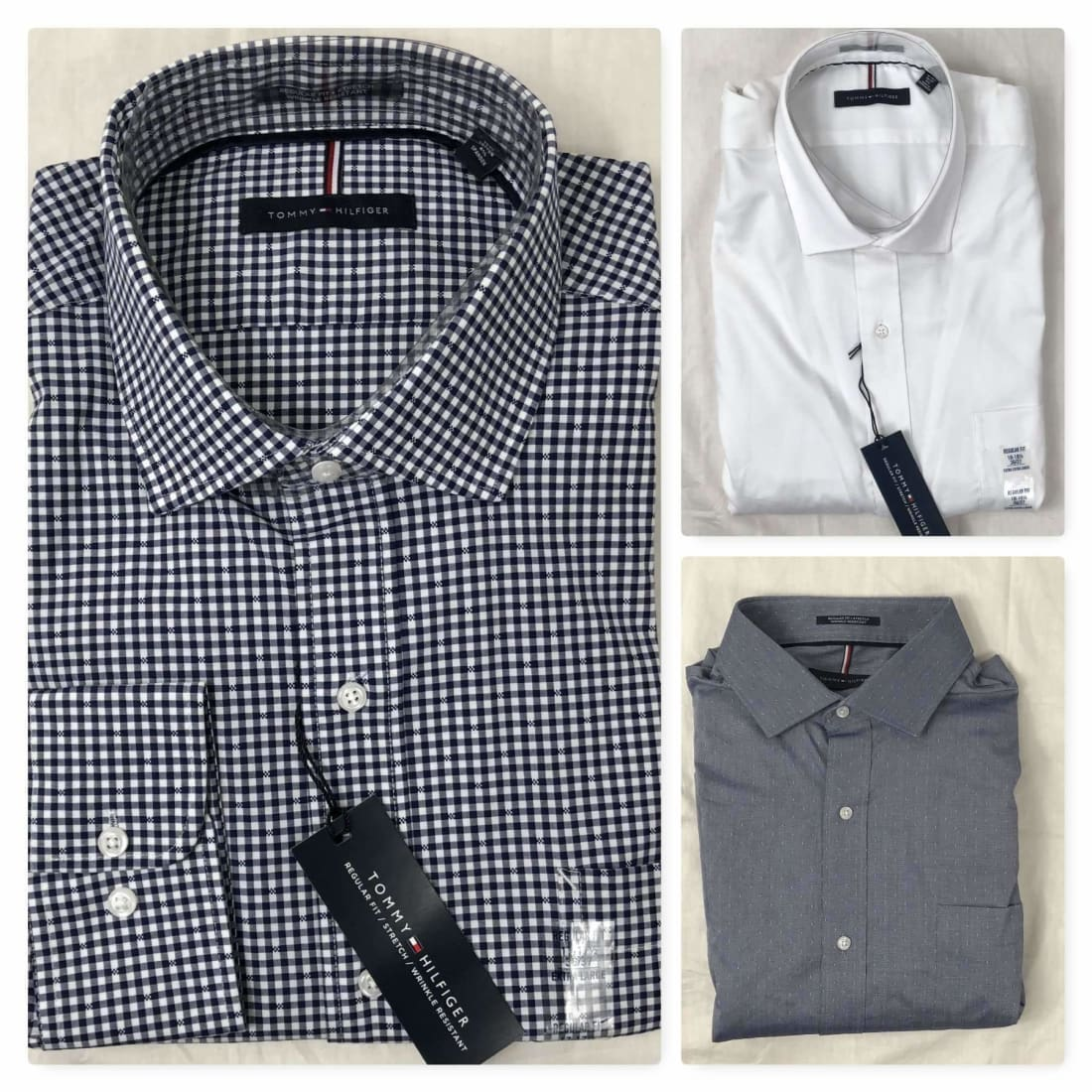 Tommy Hilfiger Regular Fit Button Front Dress Shirt Dress Shirts