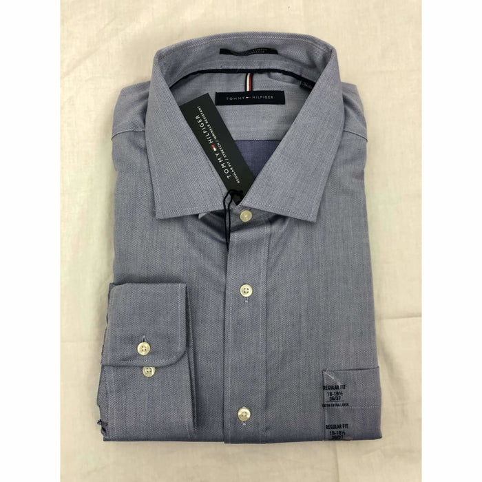 Tommy Hilfiger Regular Fit Button Front Dress Shirt 2Xl / Lt Blue / 36-37 Dress Shirts