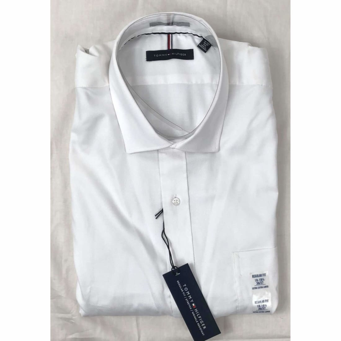 Tommy Hilfiger Regular Fit Button Front Dress Shirt M / White / 34-35 Dress Shirts