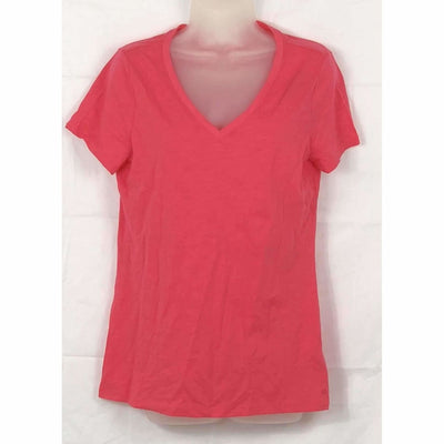 Tommy Hilfiger Womens Short Sleeve V-Neck T-Shirt S / Rouge Red T-Shirts