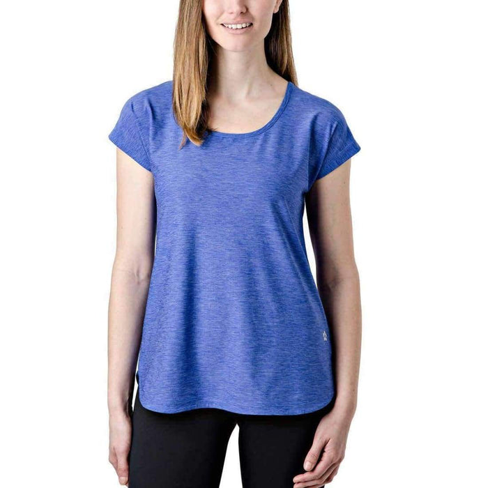 Tuff Athletics Womens Keyhole Tee L / Blue Tops & Blouses