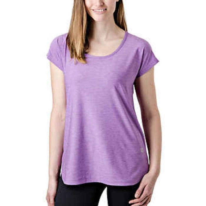 Tuff Athletics Womens Keyhole Tee L / Purple Tops & Blouses