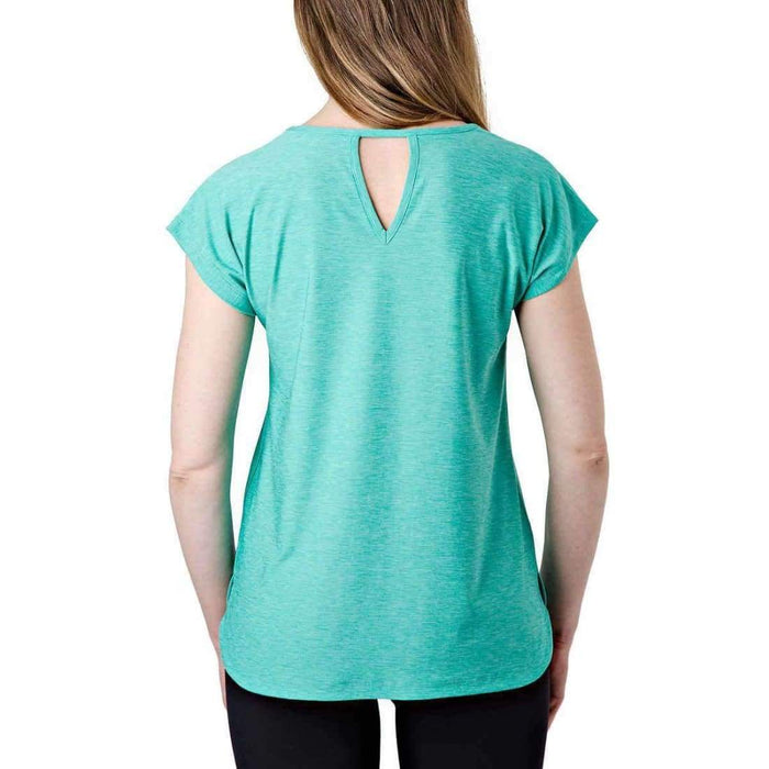 Tuff Athletics Womens Keyhole Tee Tops & Blouses