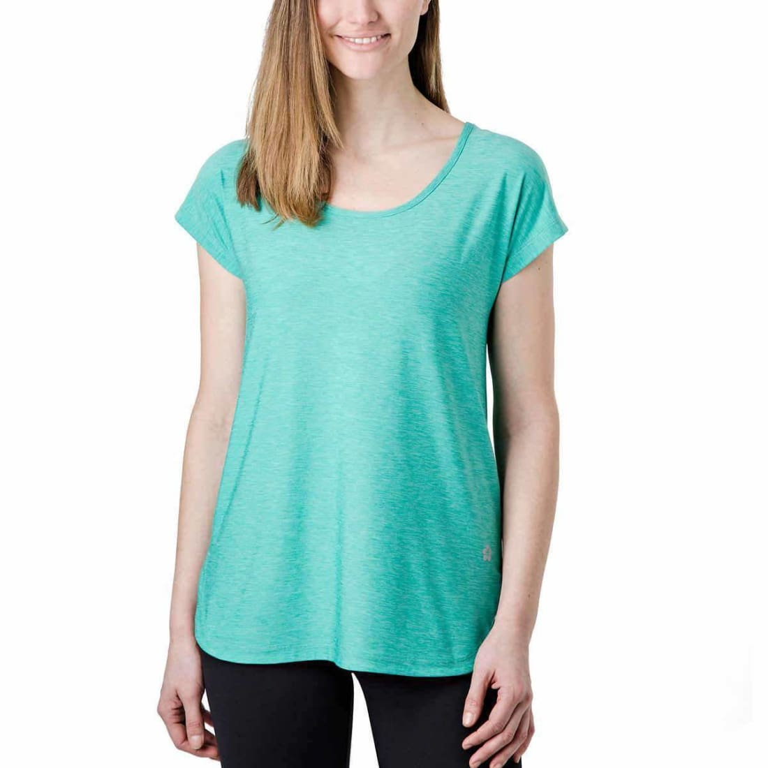 Tuff Athletics Womens Keyhole Tee Xs / Green Tops & Blouses