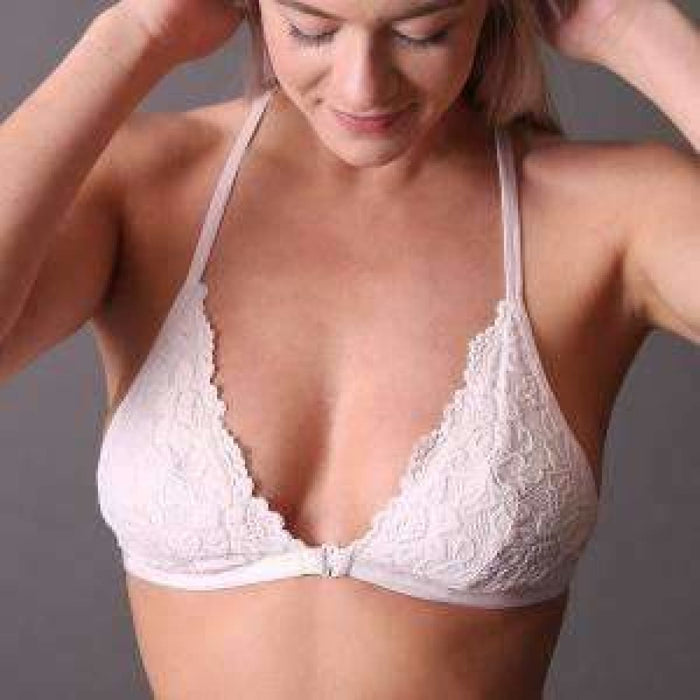 Undie Couture Triangle Racerback Lace Bralette Small / Rose Bras & Bra Sets