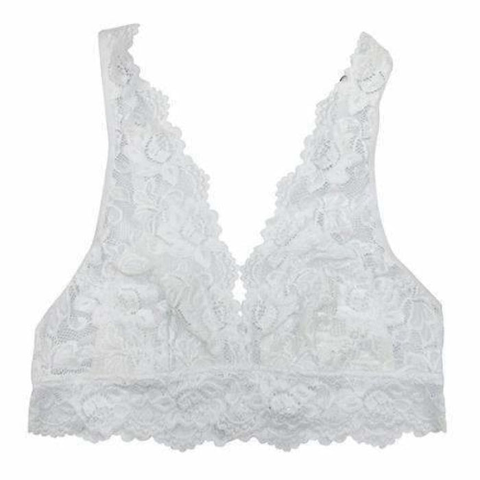 Undie Couture Wide Strap Lace Bralette Small / White Bras & Bra Sets