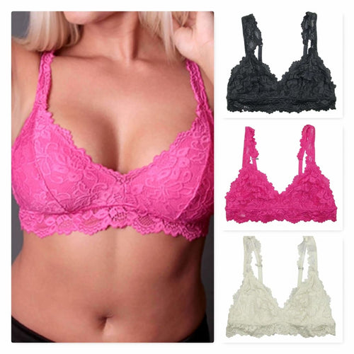 Undie Couture Womens Classic Lace Bralette Bras & Bra Sets