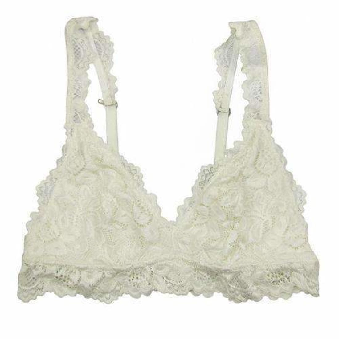 Undie Couture Womens Classic Lace Bralette Small / White Bras & Bra Sets