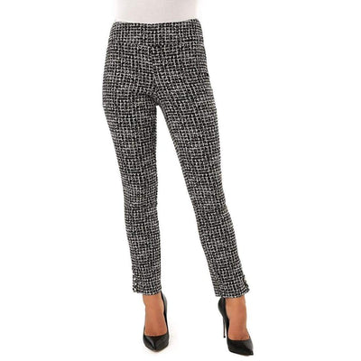Up! Pants Slim Ankle Pants Flatten And Flatter Style 66576 Techno Chanel Color Black/white Pants