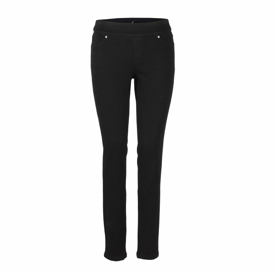 Up! Pants Womens Jet Black Skinny Jean Pull On Pant 8 Jeans