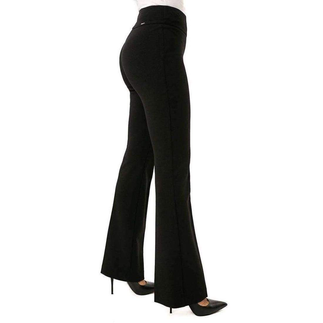 Up! Womens Boot Stretch Crepe Pants Flatten And Flatter Style 65249 Color Black 8 Pants