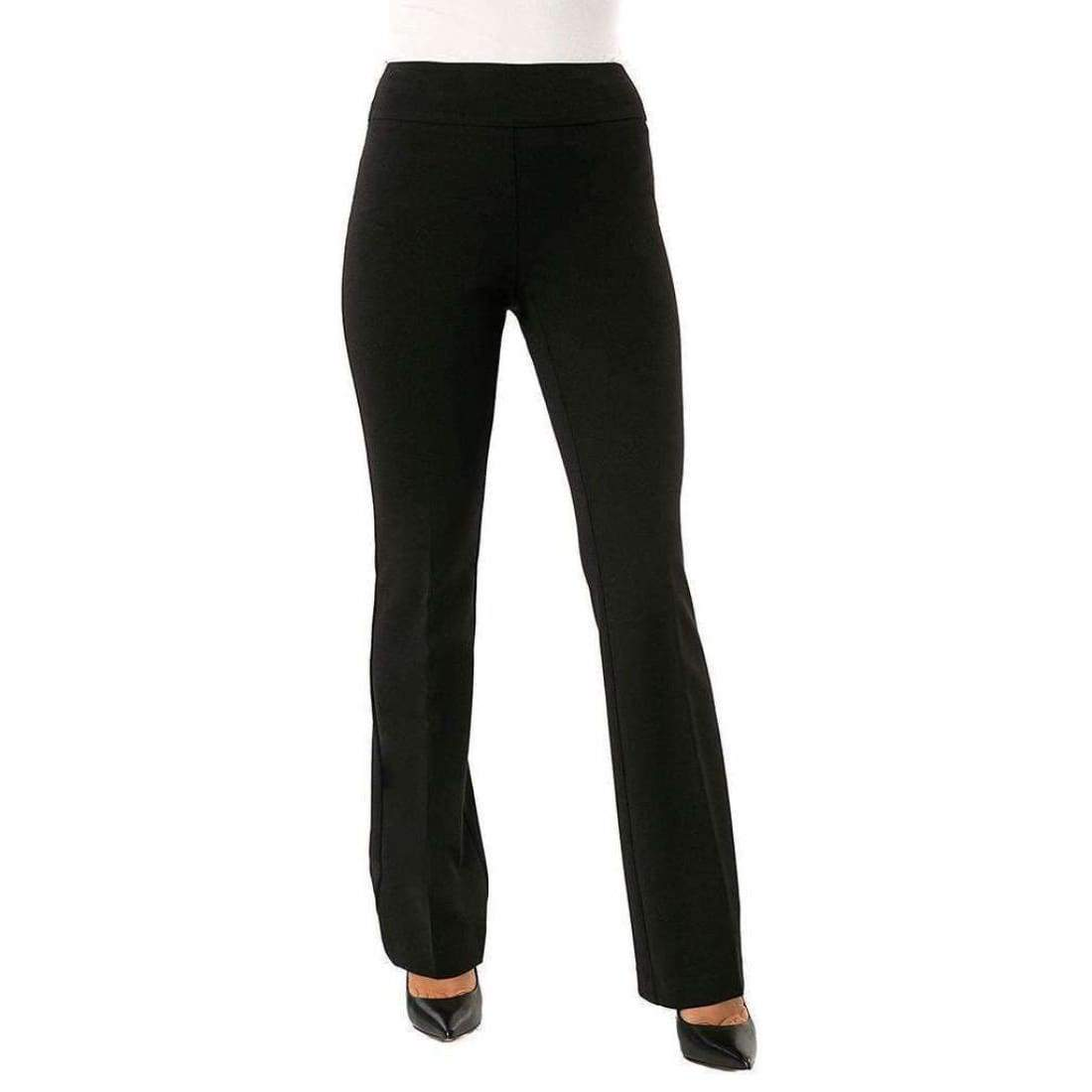 Up! Womens Boot Stretch Crepe Pants Flatten And Flatter Style 65249 Color Black Pants