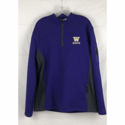 Uw Washington Huskies Mens 1/4 Zip Ribber Knit Sweater Size Xl Sweatshirts & Hoodies
