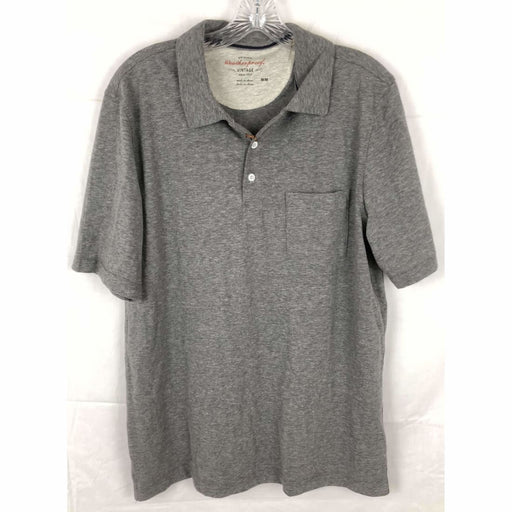 Weatherproof Vintage Mens Brushed Cotton Polo Shirt Size M M / Grey Heather Casual Shirts
