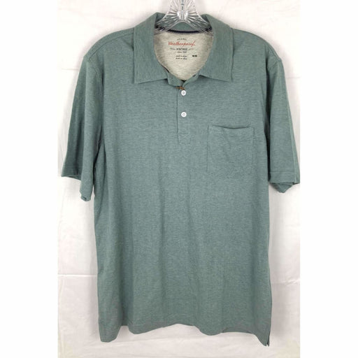 Weatherproof Vintage Mens Brushed Cotton Polo Shirt Size M M / Posy Green Casual Shirts