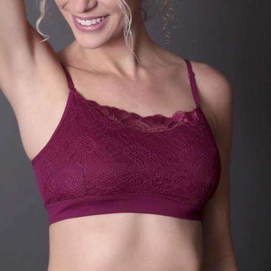 Womens Coobie Lace Coverage Bra One Size / Beaujolais Bras & Bra Sets