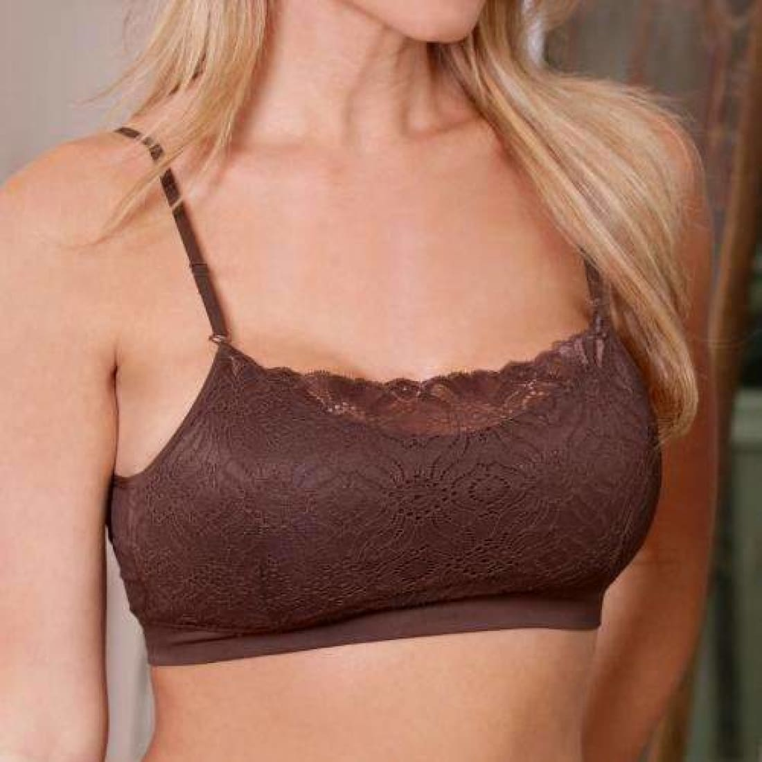 Womens Coobie Lace Coverage Bra One Size / Espresso Bras & Bra Sets