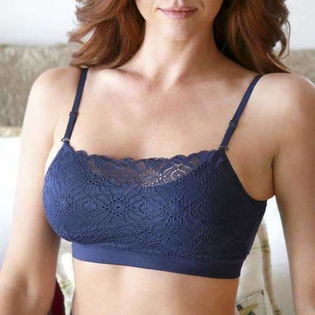 Womens Coobie Lace Coverage Bra One Size / Navy Bras & Bra Sets