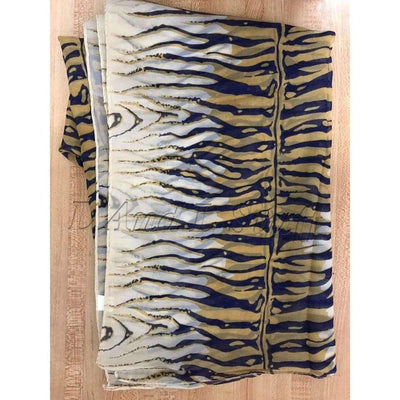 Womens Lightweight Tiger Print Sheer Scarf (Assorted Colors) Yellow/blue Scarves & Wraps