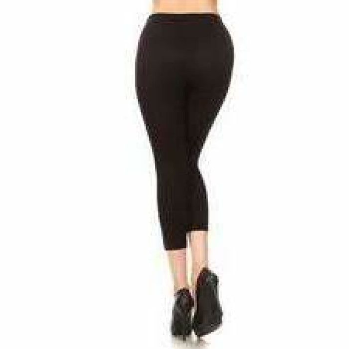 Yelete Ladies Capri Ripped Leggings One Size Leggings