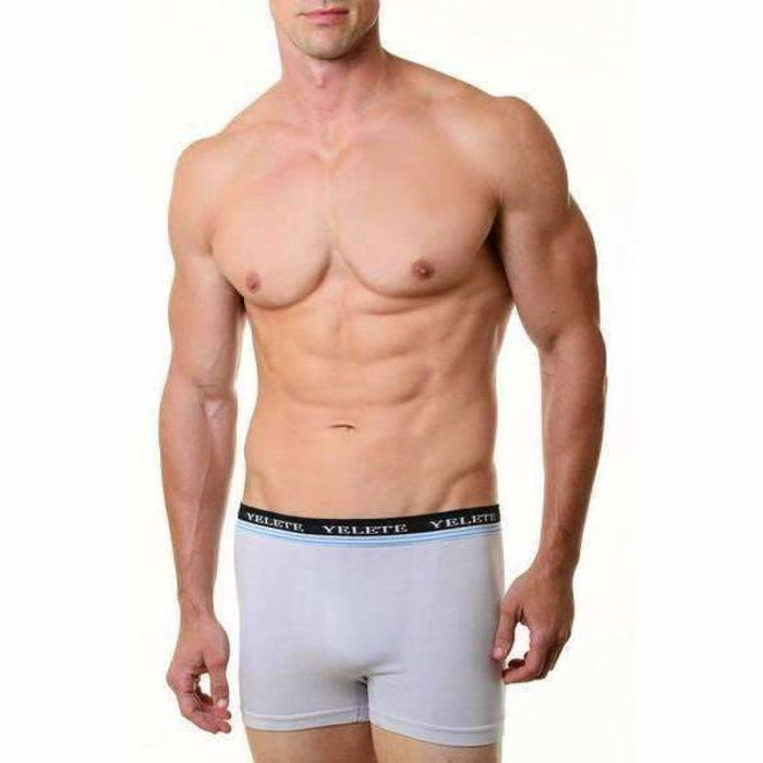 Yelete Mens Seamless Boxer Briefs 2 Pack Underwear