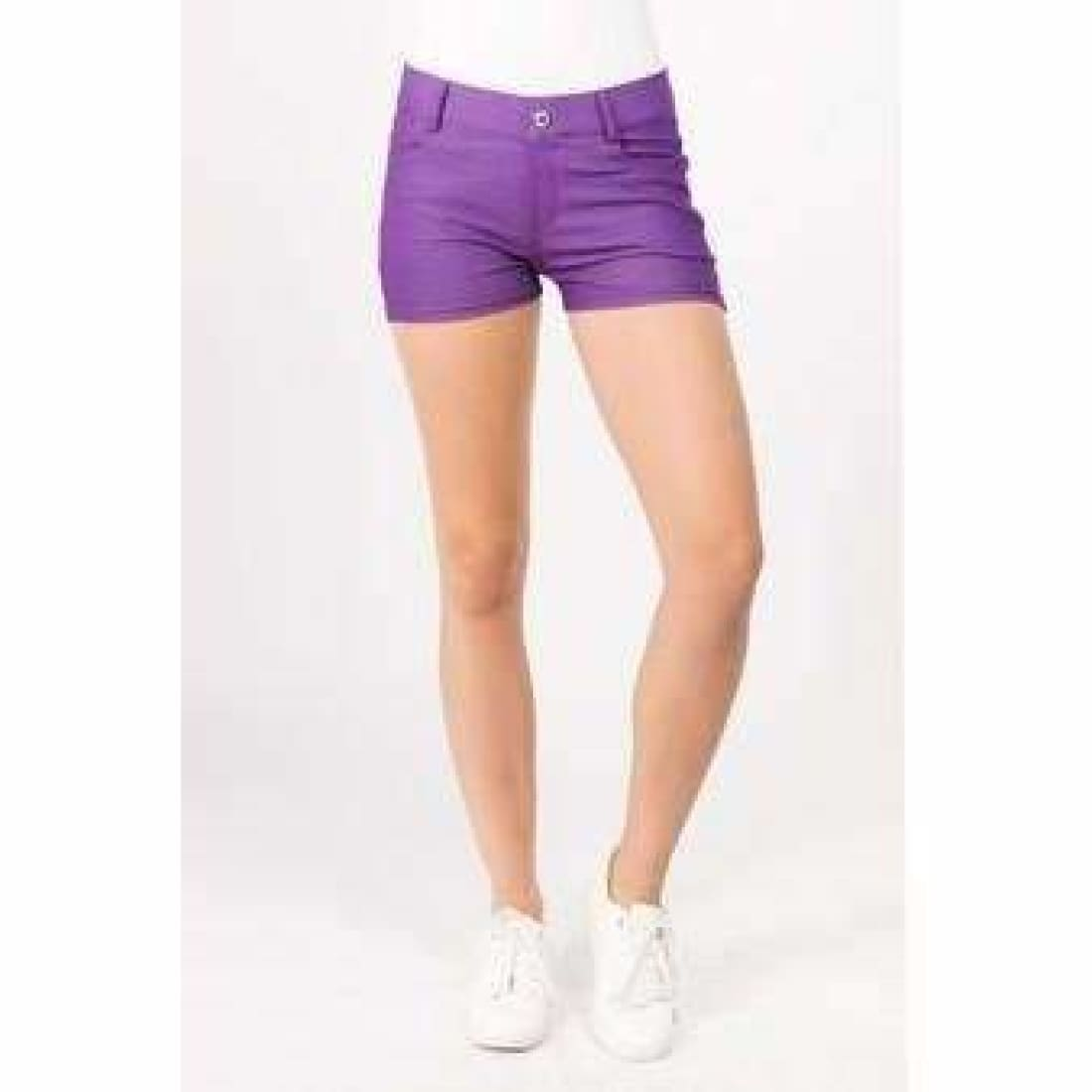 Yelete Womens Classic Jean Like Jegging Shorts S / Purple Shorts