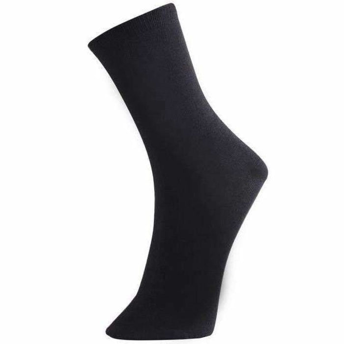 Yelete Womens Solid Black Crew Socks 3 Pack Socks