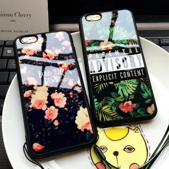 Parental Flowers Soft Silicone Mirror Back Cover Case for iPhone