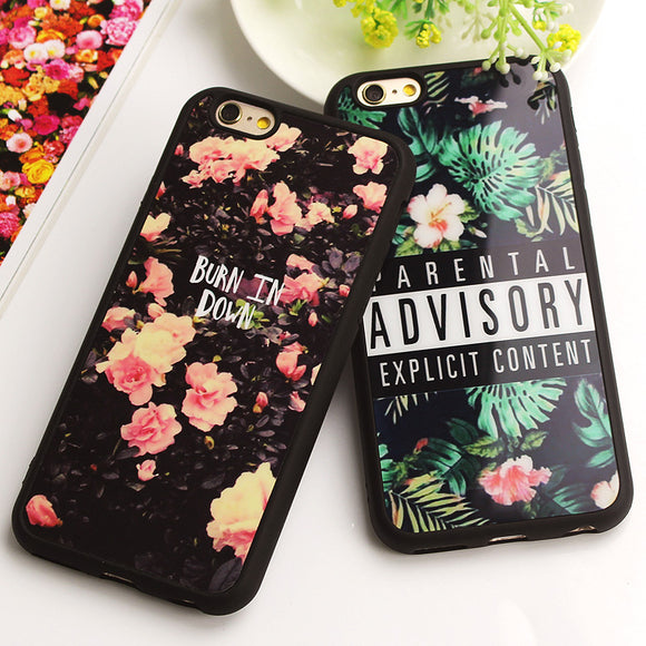 Luxury Fashion Flower Soft Silicone Case for iPhone