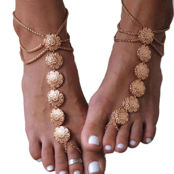Fashion Women Bohemia Beach Barefoot Foot Jewelry Anklet Chain Chain Jewelry