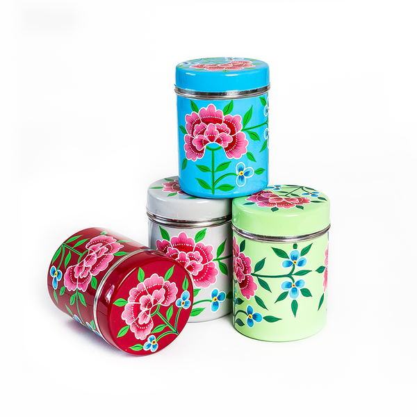 Hand Painted Kitchenware Cannisters
