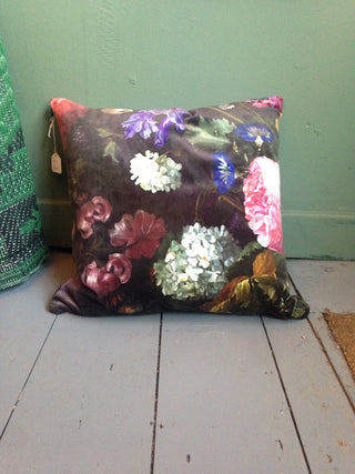 No22 Dutch Florals Velvet Printed Cushion