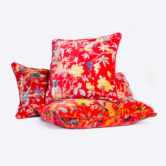 Ruby Red Square Cushion