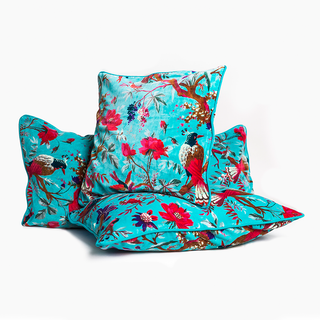 Turquoise Square Cushion