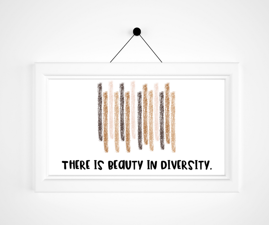 Beauty in Diversity Print | Mindfulness Activity For Kids | Positivity