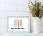 Kids Create the Change | Beauty in Diversity Print | Kids Mindfulness