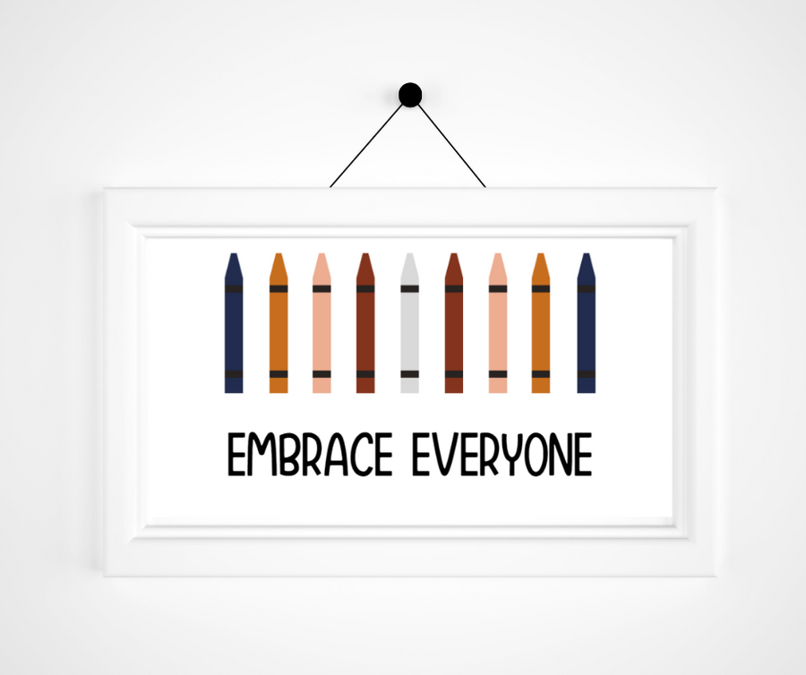 Kids Create the Change | Embrace Everyone Print |Affirmations For Kids