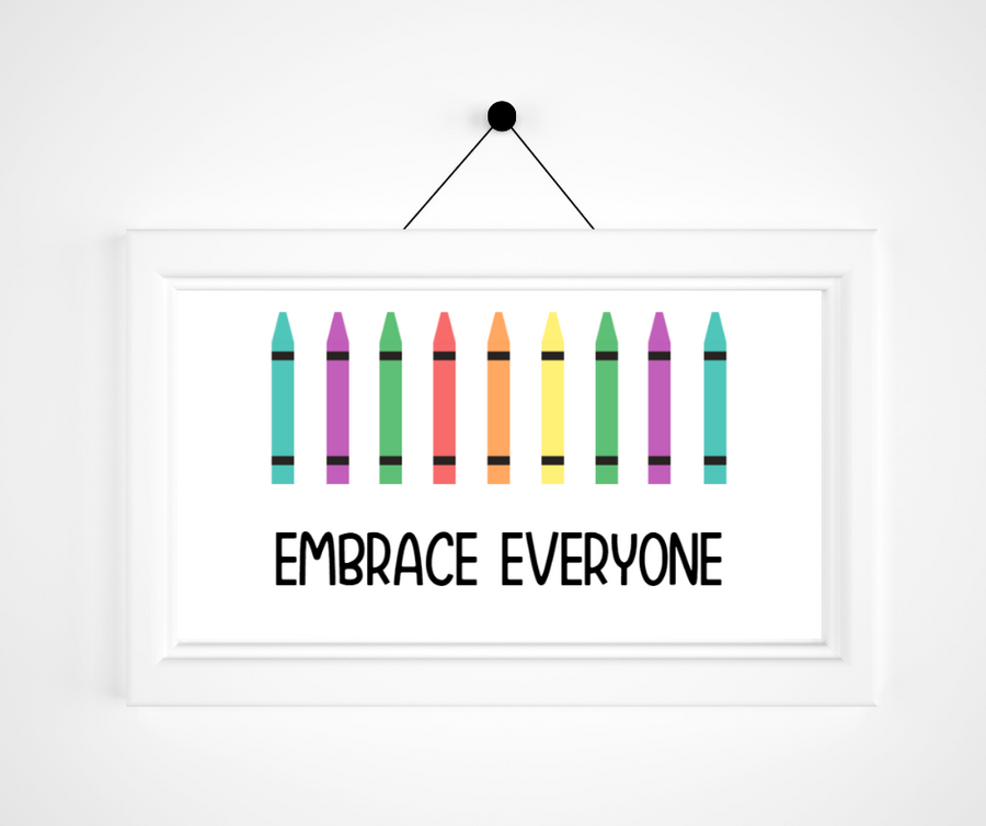 Kids Create the Change | Embrace Everyone Print | Kids Meditation