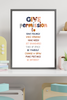 Kids Create the Change | Give Permission to Affirmation Print | Peace