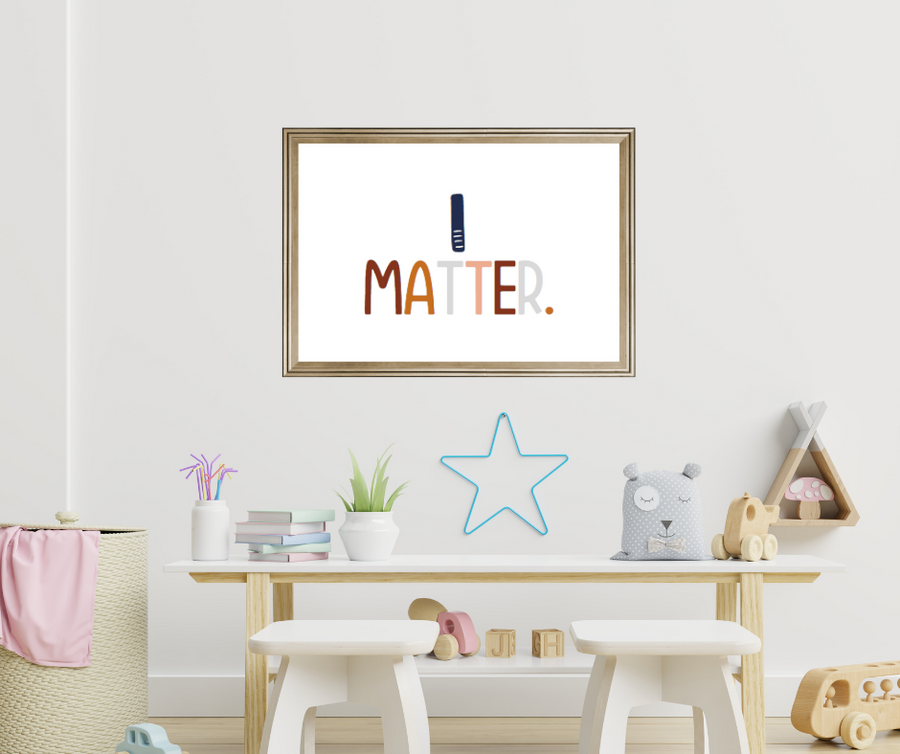 Kids Create the Change | I Matter Affirmation Print | Kids Meditation