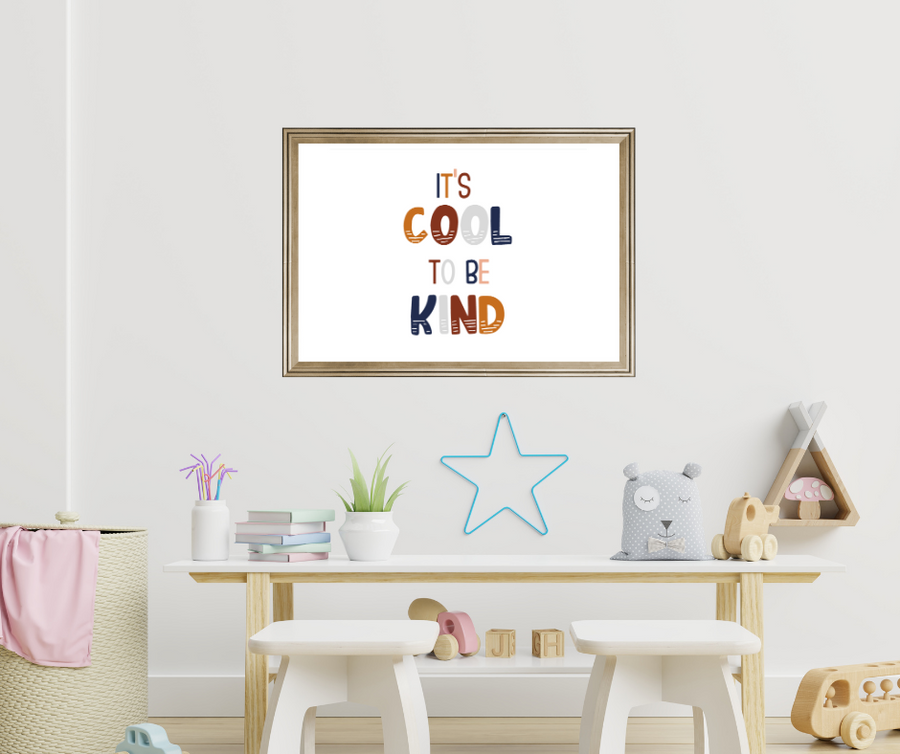 It's Cool to be Kind Affirmation Print | Kids Affirmations | Serenity