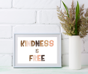 Kindness is free, so sprinkle it like confetti. We have the power to make the world a better place by simply being kind. This charming kid's affirmation printable is an empowering and adorable addition to any playroom, classroom, or kid's room. Kindness matters