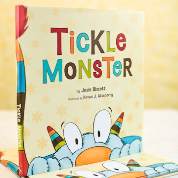 Tickle Monster Book and Mitts
