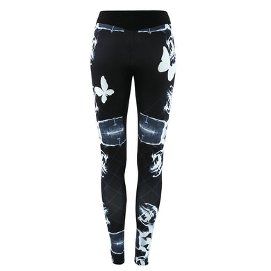 Womens Yoga Gym Print Leggings Running Fitness Sports Trousers