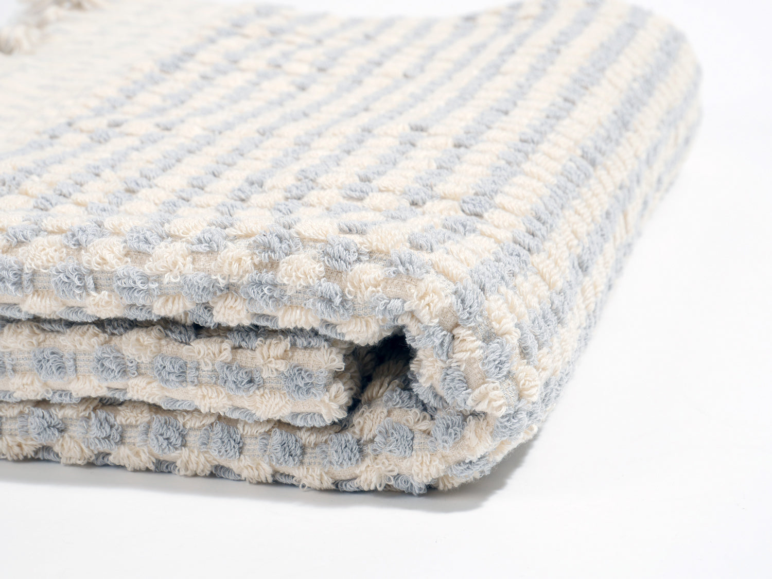 Izla Dara Super soft Terry Towel Light Blue and White - Izla