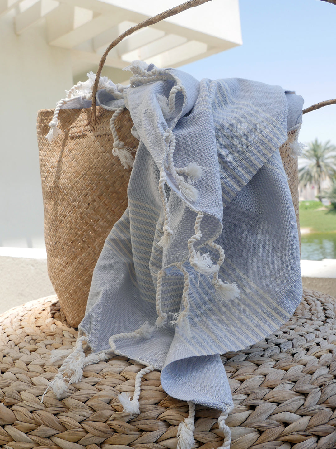 Izla Alanya Hamam Towel Light Grey