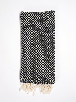 Izla Malke Super soft Hamam Towel Black - Izla