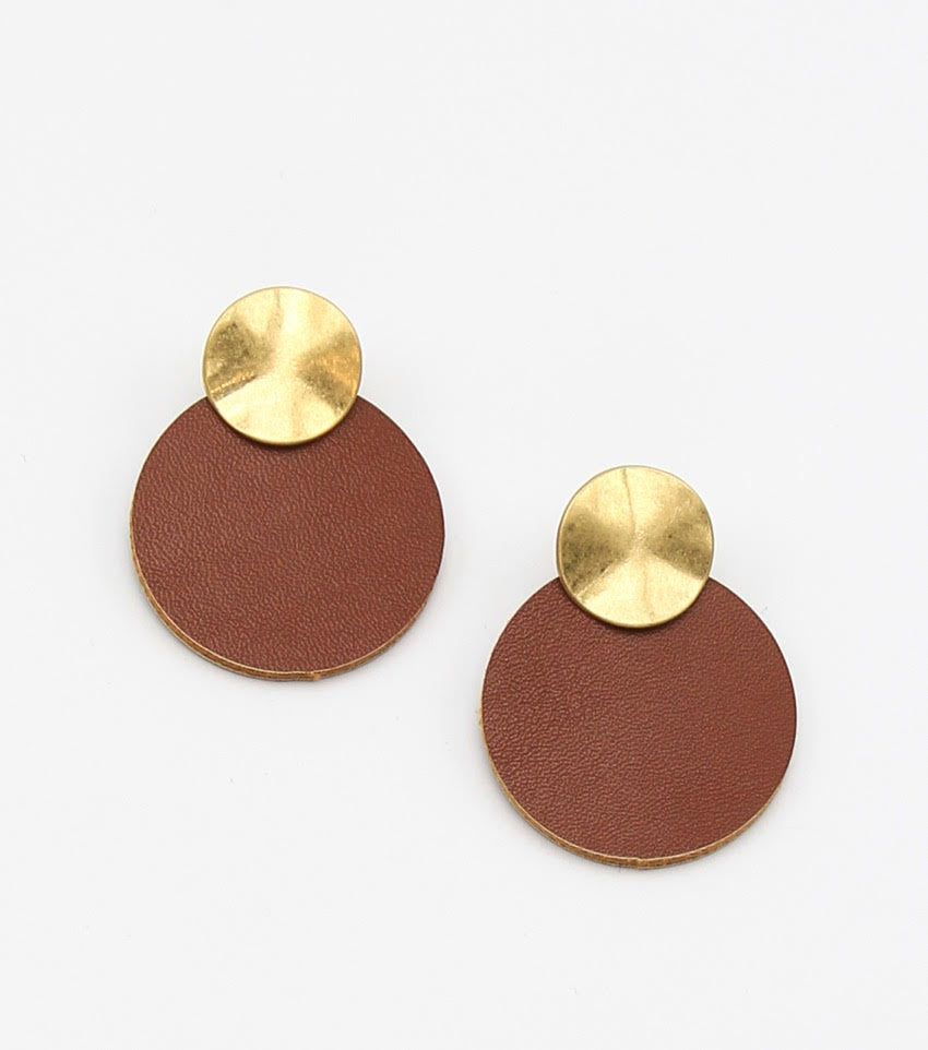 Radiant Leather Drop Earrings